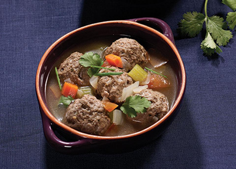 Ostrich meatballs